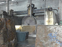 granite block cutting