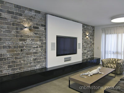 Gray Color brick used indoor