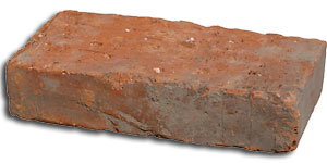 Red colour complete brick