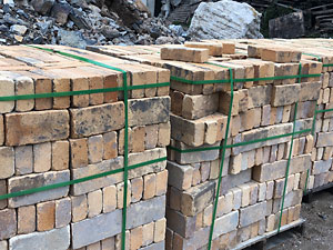 reclaimed yellow color refractory bricks
