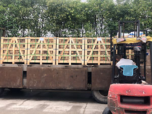 crates loaded onto a lorry