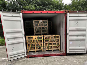 crates loaded into a container