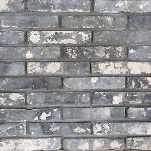 Gray brick face cut