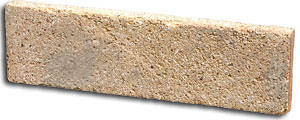 Yellow refractory brick middle cut