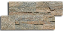 Sunset Gray quartzite thin panel size 350x180x10-20mm