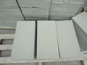 Green sandstone honed tile