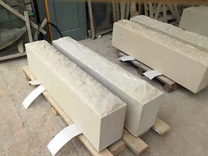 Big sand stone block with 1 split top