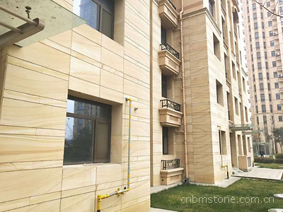 Yellow veins sandstone facade
