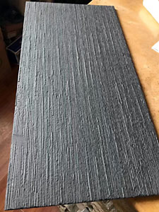 China Black slate tile drizzled