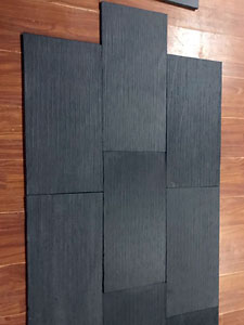 China Black slate tiles drizzled