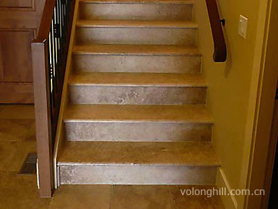 Travertine And Wood Stairs Stone Made Accessories