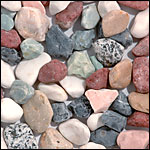 mixed colors tumbled pebble