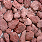 red tumbled pebble