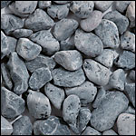 black tumbled pebble