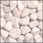 white tumbled pebble